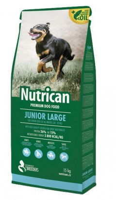 NUTRICAN Junior Large pro mladé psy velkých plemen 15kg