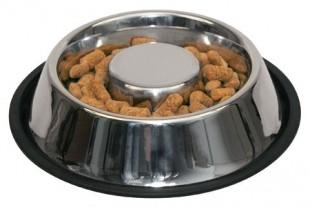Nerezová protiskluzová miska pro psy s ostrůvkem 500ml