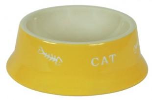 Keramická miska pro psy a kočky barevná 200ml