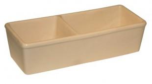 Miska keramická hranatá dvojitá 350+450ml