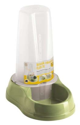 Miska pro kočky se zásobníkem 2v1 - voda/granule 650ml