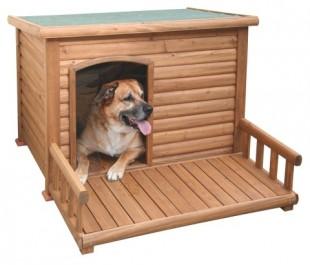 Bouda pro psa s terasou dřevěná