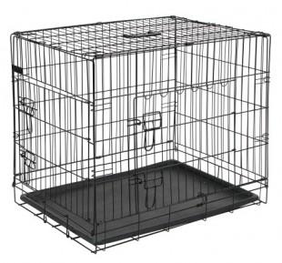 Drátěná klec pro psa 92 x 63 x 74 cm 2 dvířka
