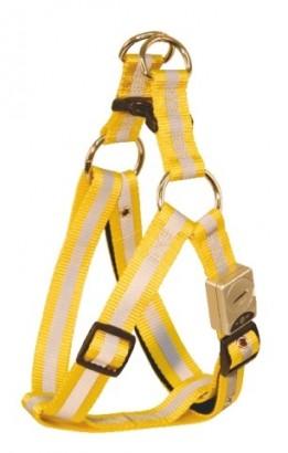 Postroj Flash Reflex pro psy nylonový žlutý