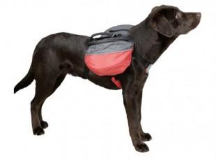 Dvojbrašna na psa červená