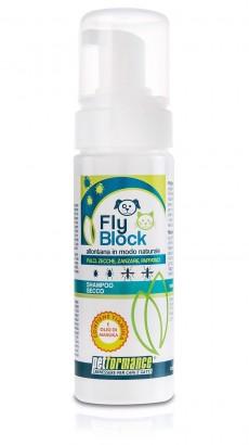 Suchý šampón FlyBlock antiparazitický pro psy a kočky 150 ml