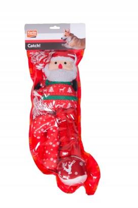 Vánoční hračky pro psa, ponožka - 5 ks