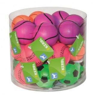 Hračka pěnová guma neonový míček 6cm