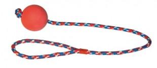 Hračka pěnová guma míček na provazu 60cm