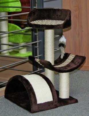 Odpočívadlo SAFARI pro kočky tm.hnědé 38x60cm