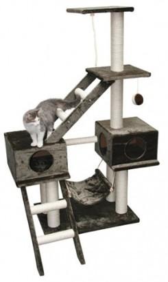 Odpočívadlo GRANAT pro kočky šedé 70x50x150cm