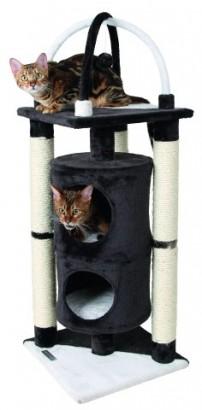 Odpočívadlo ONYX pro kočky černo/bílé 38x107cm