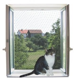 Bezpečnostní síť pro kočky 2x3m transparentní