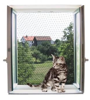 Bezpečnostní síť pro kočky 6x3m transparentní