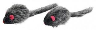 Hračka myš dlouhosrstá pro kočky, pár