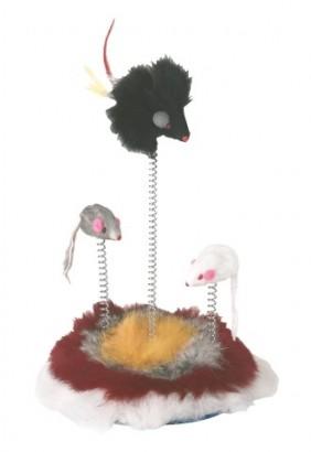 Hračka myšky na pružině pro kočky 25cm