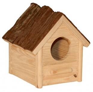 Domek NATURE pro hlodavce dřevěný 14x12x13cm