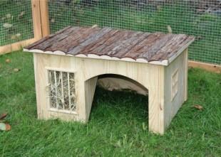 Domek NATURE pro hlodavce dřevěný 54x41x30cm