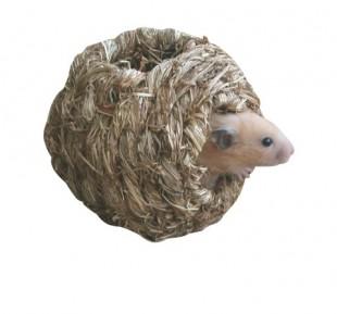 Hnízdo splétaná tráva pro hlodavce 10x10x10cm