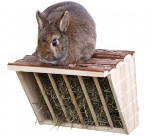 Jesle pro králíky NATURE dřevěné 28x20,5x22cm
