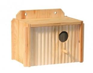 Budka pro papouška dřevená 21x13x13cm