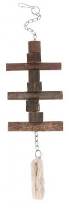 Hračka pro papouška dřevená 40cm
