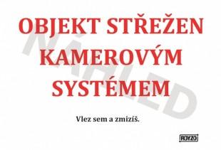 "Výstražná tabulka ""KAMEROVÝ SYSTÉM"""