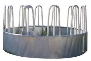 Kovový krmelec kruhový na balíky o Ø 210cm, 12 míst