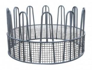 Kovový krmelec kruhový na balíky se sítí o Ø 170cm, 9 míst