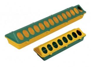 Plastové podlahové krmítko pro brojlery s otvory