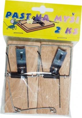 Pastička na myši dřevěná - pár