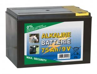 Baterie pro ohradníky alkalická  9V/75Ah