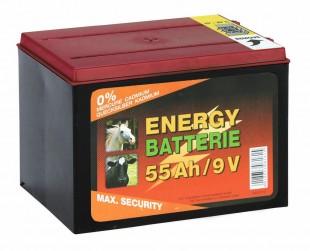 Baterie pro ohradníky zinko-karbonová  9V/55Ah