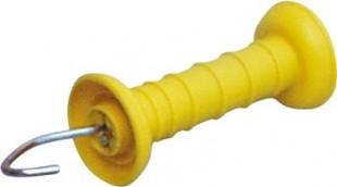 Brána - rukojeť s háčkem žlutá