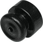 Izolátor ohradníku prstencový černý (100)
