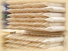 Kůl pro pevné ohradníky dřevěný