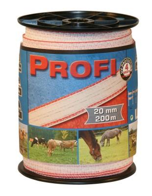 Ohradníková páska PROFI TriCOND bíločervená 20mm/200m