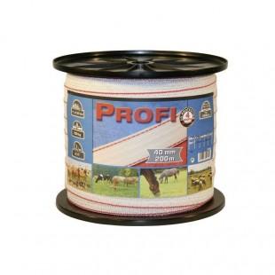 Elektrická páska PROFI TriCOND bíločervená 40mm/200m
