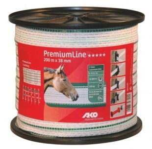 Elektrická páska Premium L bílozelená 38mm/200m