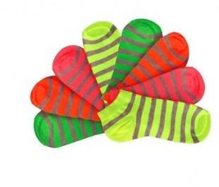 Ponožky snížené dámské NEON pruhy