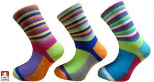 Ponožky PONDY pestré pruhy dětské