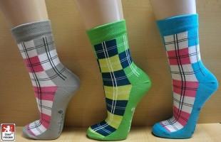 Ponožky PONDY designové KOSTKY dámské
