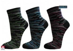 Ponožky PONDY jemné proužky dámské
