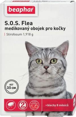 Obojek antiparazitní BEAPHAR kočka SOS adult 35 cm