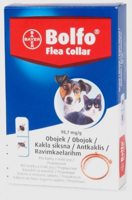 Obojek antiparazitický BAYER Bolfo 38 pro kočky a malé psy
