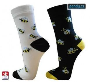 Ponožky PONDY designové  VČELKY 2 páry
