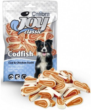 CALIBRA Joy Dog Classic Cod & Chicken Sushi masový pamlsek 80 g NEW