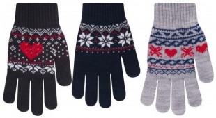 Rukavice dámské norský vzor, různé barvy