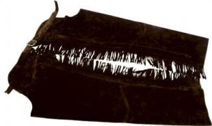 Chapsy KenTaur kožené s třásněmi