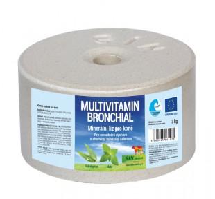 Bronchial minerální multivitamínový liz pro koně 3 kg